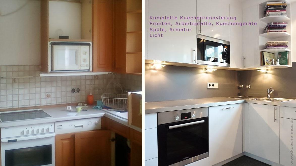 Küchenfronten neu gestalten  Wir renovieren Ihre Küche : Küchenmodernisierung München Harald Maier