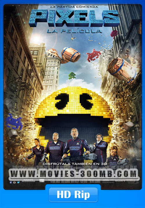 Pixels 2015 720p WEBRip 500MB Poster