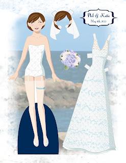 Katie Wedding Paper Doll
