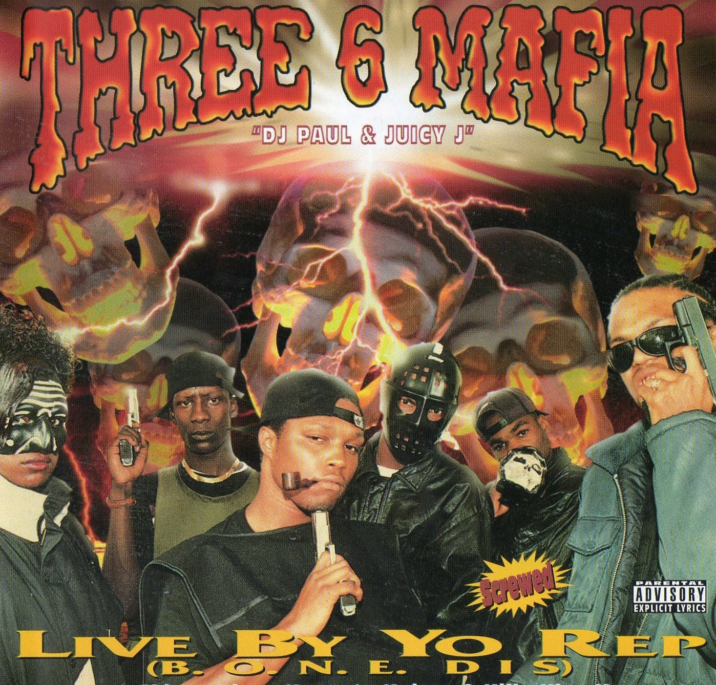 k nela records three 6 mafia live by yo rep b o n e dis 1995. Black Bedroom Furniture Sets. Home Design Ideas