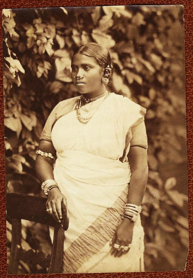 Indian Woman in Sari and Various Ethnic Ornaments - c1885