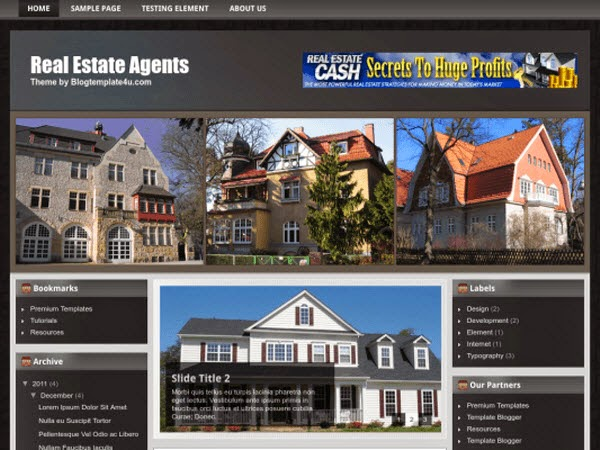 Real Estate Free Blogger Template