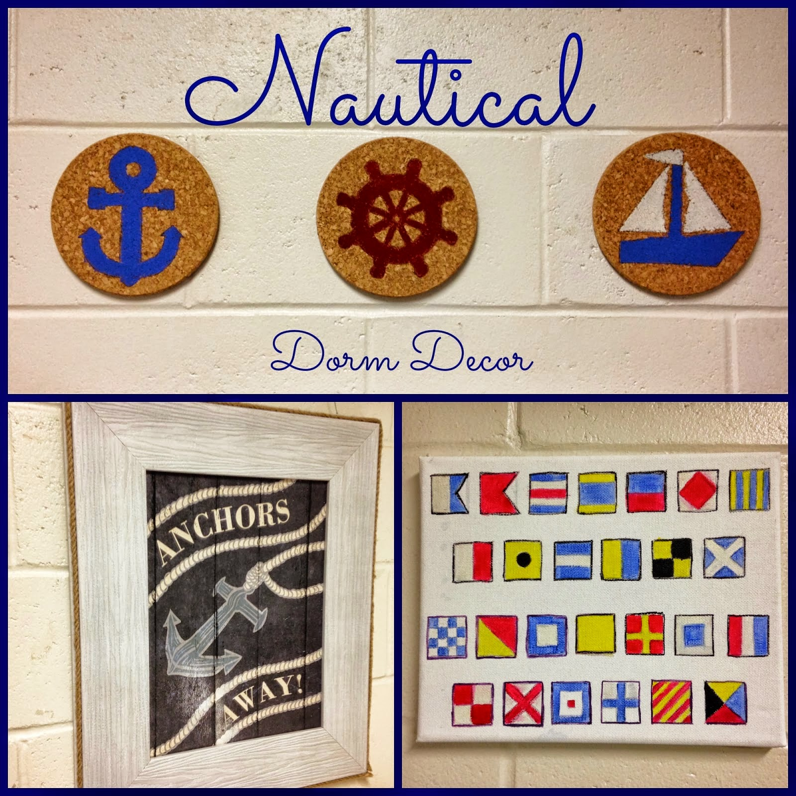 Nautical Dorm Decor Tutorials www.sugarspiceandsparkle.com