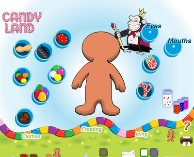 The Gingerbread Man With Everything Is A Free Site From Sprint Tons Of Candy Choices All That Can Be Rotated And Moved There Are Also Lots Icing