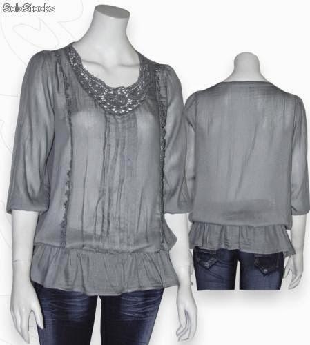 Patr�n gratis blusa (tallas 34-54)