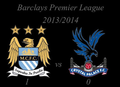 Manchester City vs Crystal Palace Barclays Premier League 2013