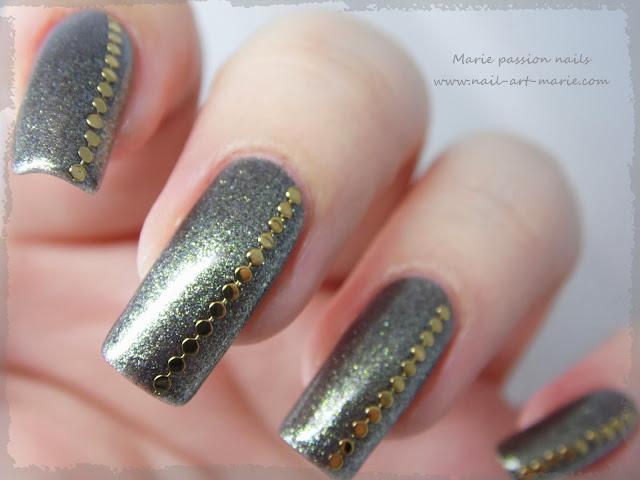 Nail art chic et discret7