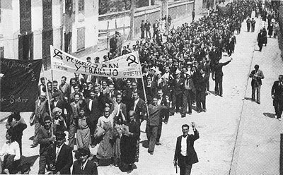Na imagem, 1º de maio de 1936 em Monforte de Lemos