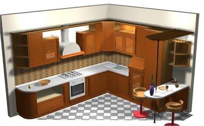 Dise o de cocinas en 3d fotorealismo planos septiembre 2011 - Diseno cocina 3d ...