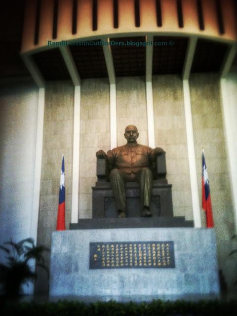Statue, National Sun Yat-Sen Memorial Hall, Taipei, Taiwan