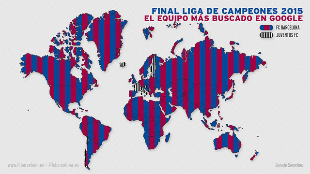 El Triplete del FC Barcelona, en Internet