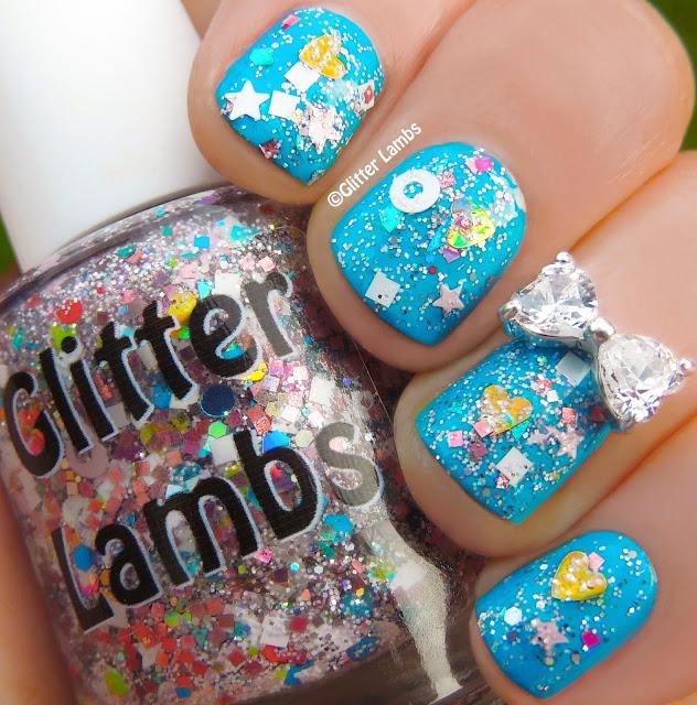 Cotton Candy Bubble Bath Glitter Lambs Nail Polish