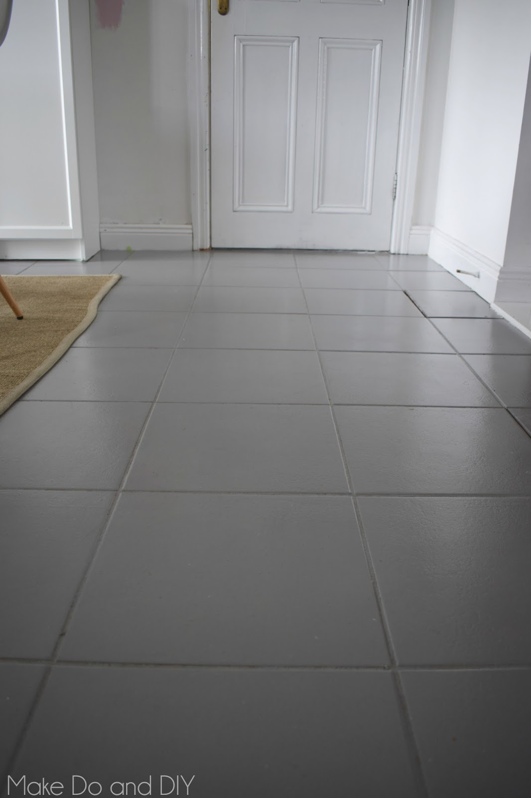 Painting a tiled floor