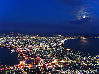 Mt Hakodate at Night