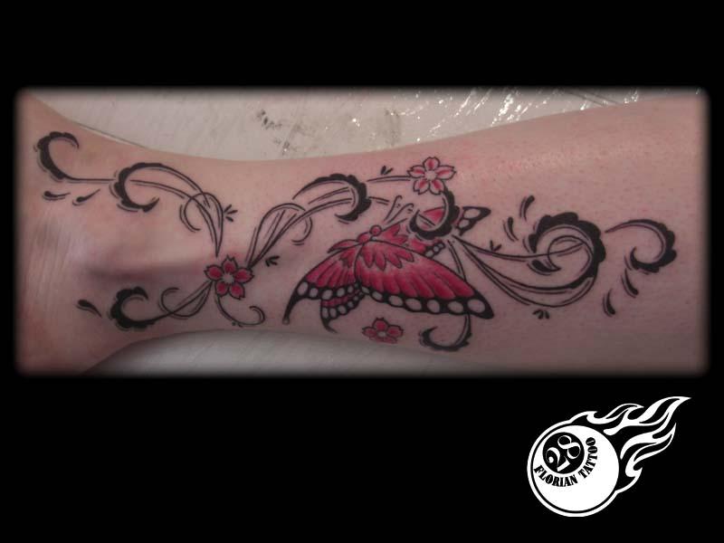tatouage papillon cheville - Tatouage papillon cheville