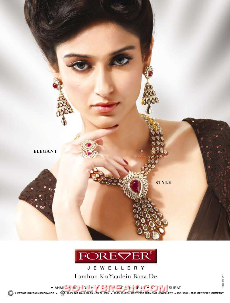 , Ileana Hot Ads For Forever Diamonds