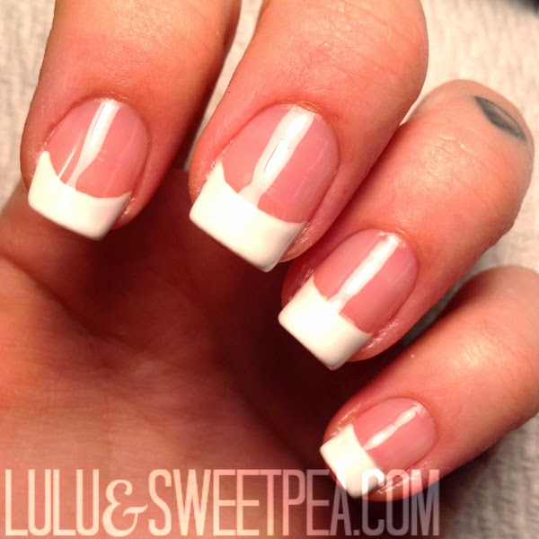 lulu sweet pea easy at home gel french manicure. Black Bedroom Furniture Sets. Home Design Ideas