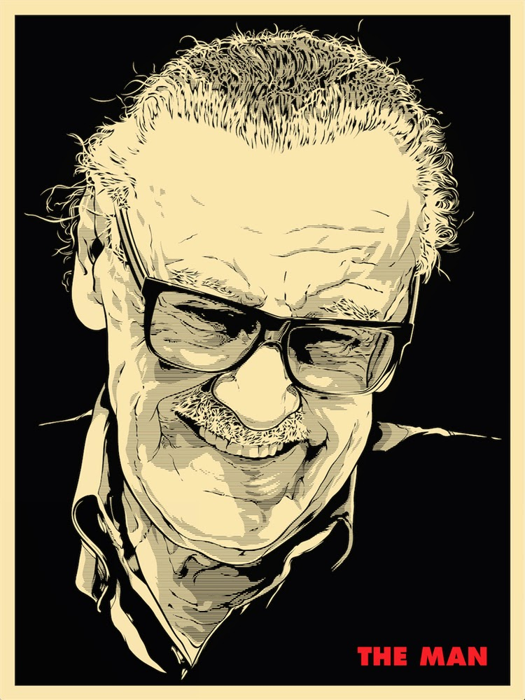 "Stan ""The Man"" Lee Screen Print by Joshua Budich"