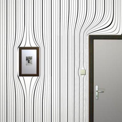Gri duvar üzerine dekorasyon göz yanılması