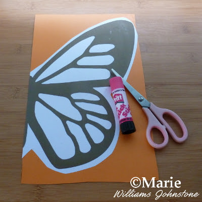 Use stick glue to stick the paper to some sturdy card