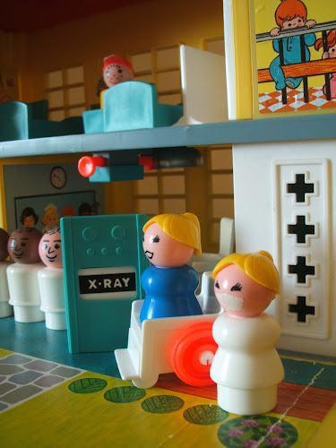 vintage Fisher Price toy hospital 1970s 1980s nurses