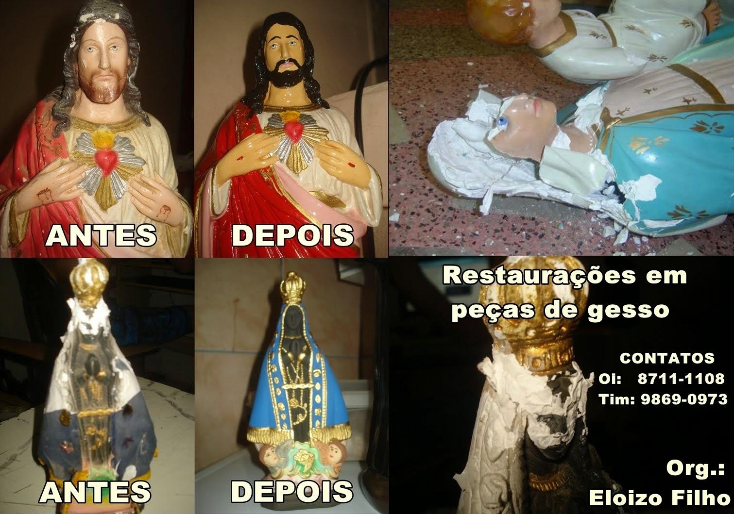 RESTAURAÇÕES EM PEÇAS DE GESSO