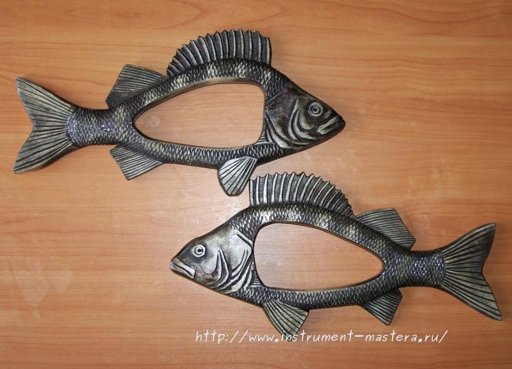 Самодельная деревянная резная фоторамка в виде рыбы - отличный подарок рыбаку-любителю