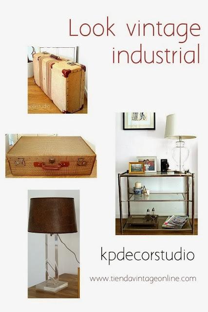 comprar online decoracion vintage industrial para recibidor o salon