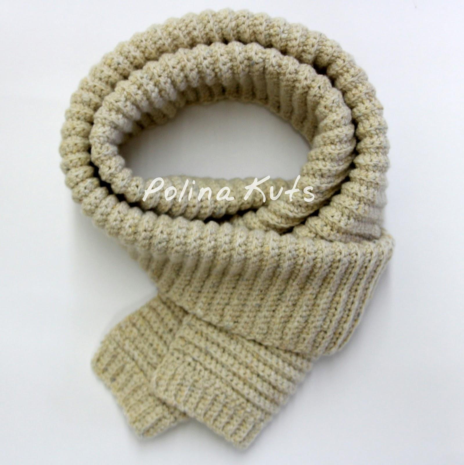 Вязание крючкоммужские шарфы 96