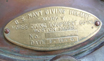 Tag On Reproduction Of US Navy Mark V Helmet
