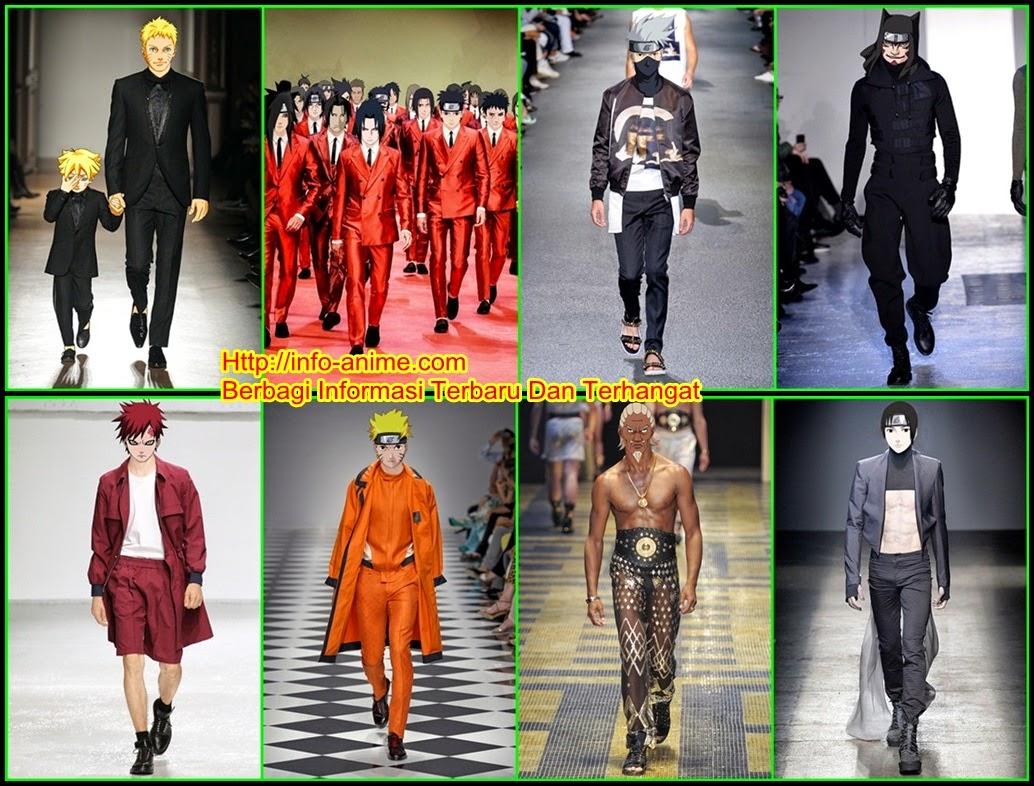 Inilah Karakter Anime Naruto Saat Fashion Show