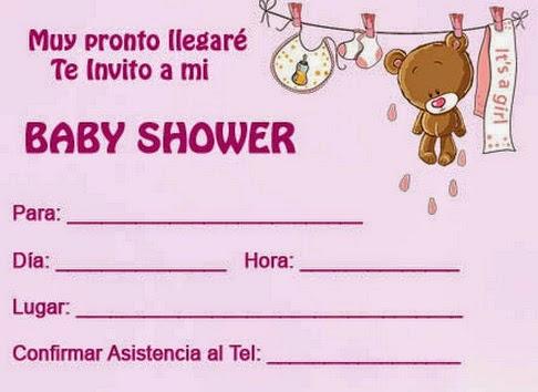 Invitación para enviar por correo electrónico para el baby shower