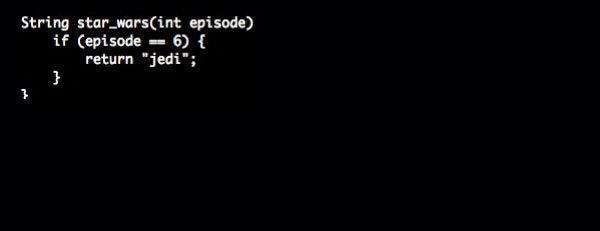 Return of the Jedi. Movies {as code}.