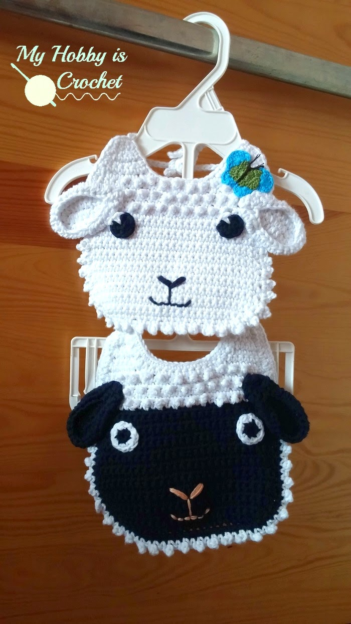 My Hobby Is Crochet: Little Lamb Crochet Baby Bib Free ...