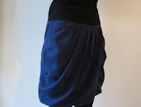 handmade silk gathered skirt