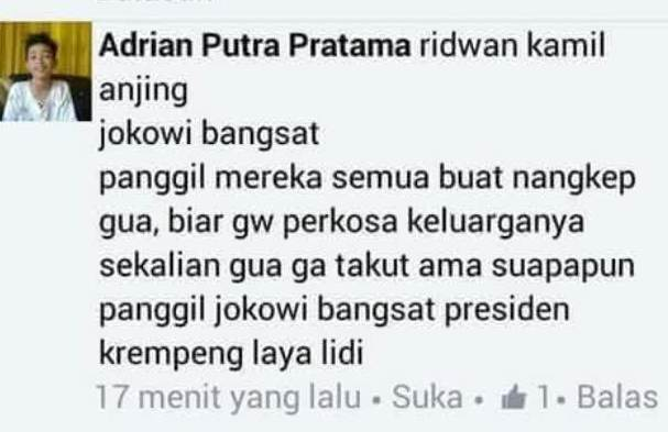 Pria Kecil ini Menghina Presiden Jokowi dan Ridwan Kamil