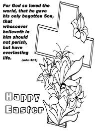 Christian Religious Easter Coloring Page