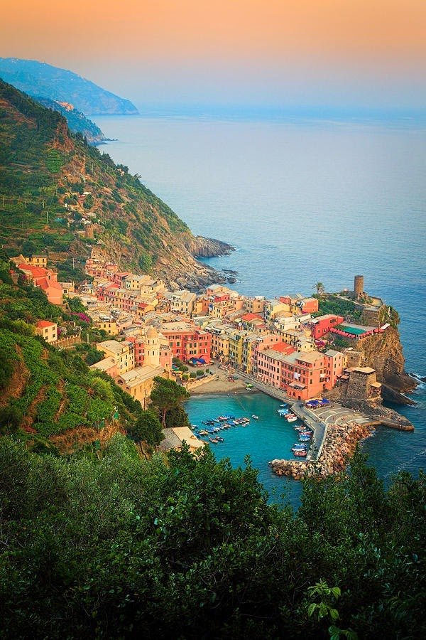 Afternoon at Vernazza Marina, Italy