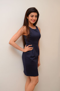 Actress Pranitha Latest Pictures in Short Dress at Dynamite Interview   (44).JPG