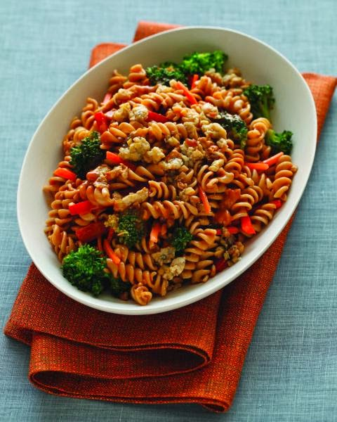 Peanut Butter Pasta With Fried Tempeh Bits
