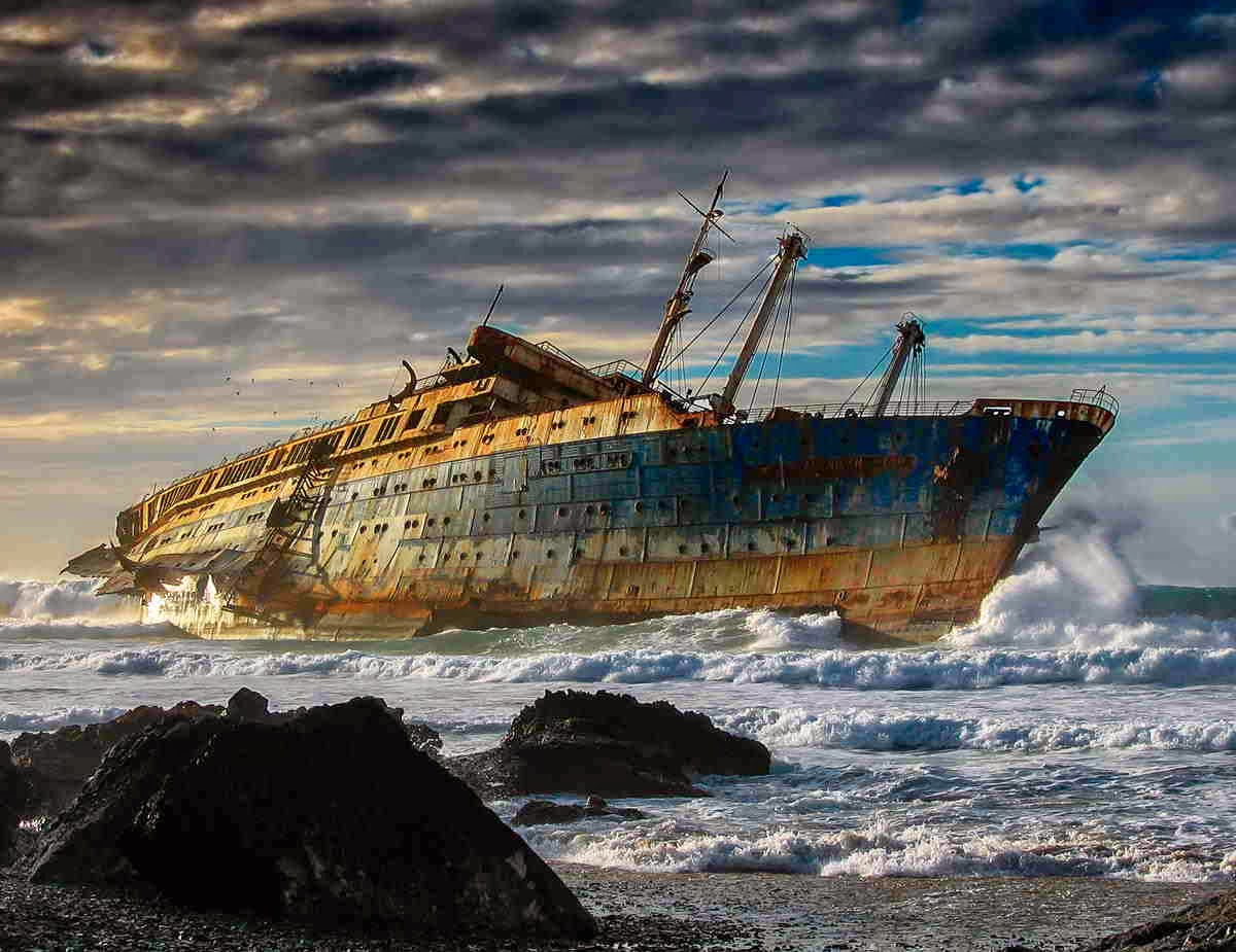 Wreck of the SS America