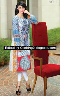 Lala Classic Embroidered Kurtis 2015