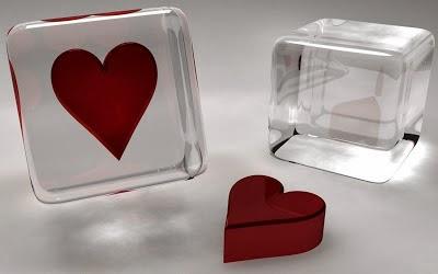 Red Crystal Heart Wallpaper 2