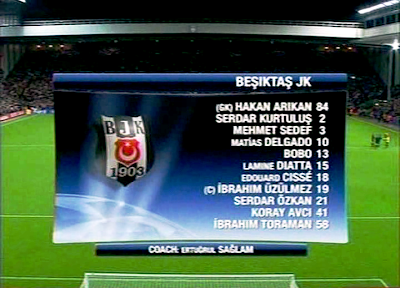 FOOTBALLS: UCL - LIVERPOOL vs BESIKTAS 06.11.