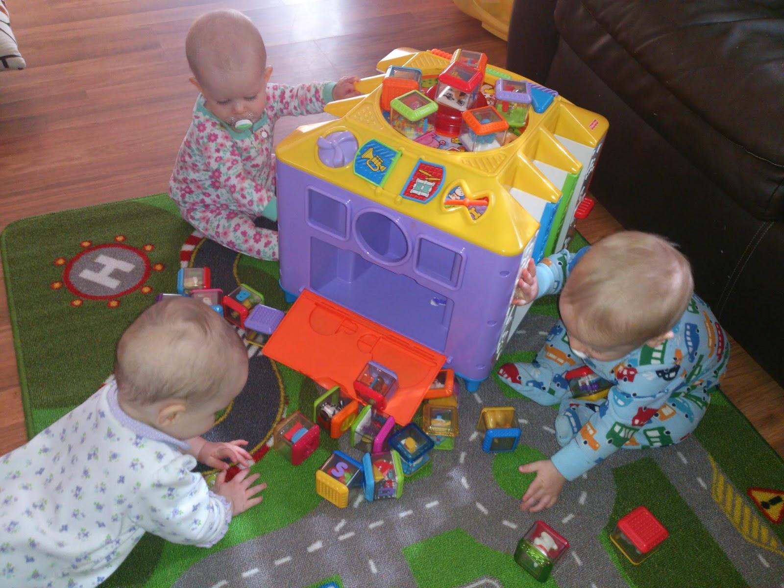 Triplets Toddler 8 Month Old Playtime