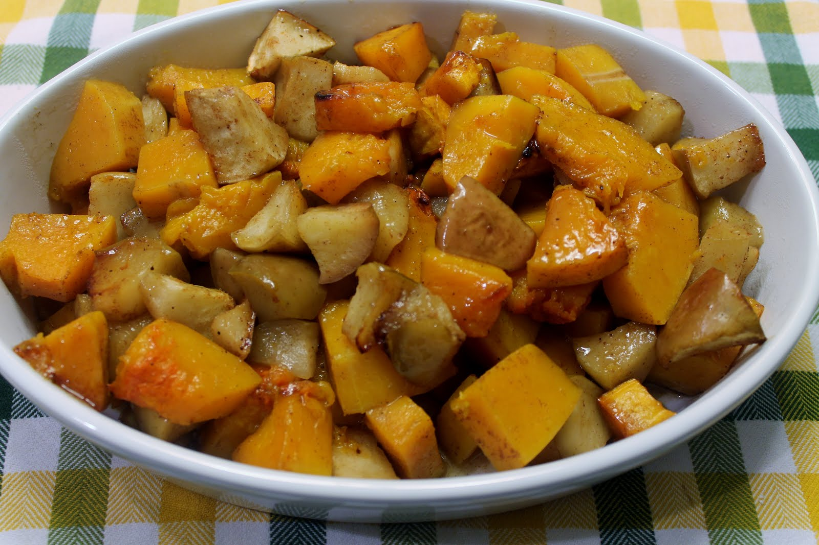 roasted butternut squash with apples ingredients 1 large butternut ...