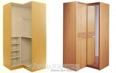 Model lemari pakaian sudut L