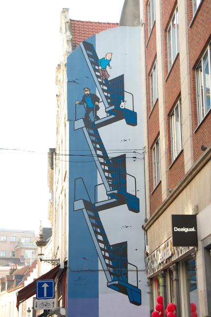 Tintin at Brussels Street
