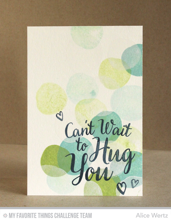 Can't Wait to Hug You Card from Alice Wertz featuring the True Friends and Circle Scribble Flowers stamp sets