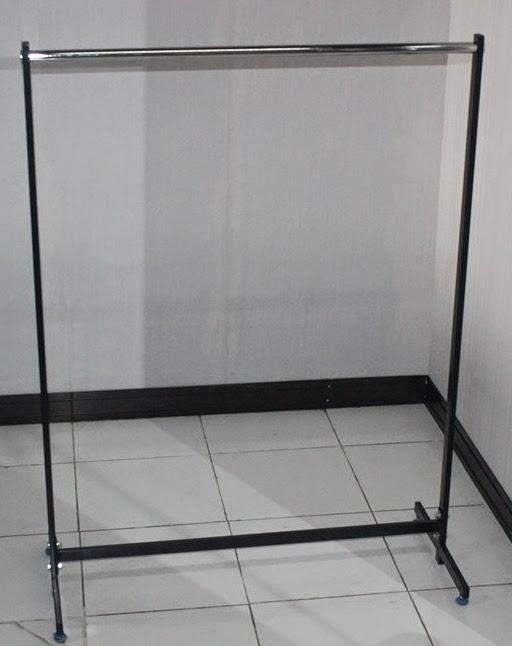 Rak+Gawang+beroda+warna+hitam+jual+rak+gudang rak+minimarket RAK GAWANG BAJU